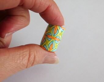 Dread Bead with 7 mm bead hole, polymer clay large hole bead