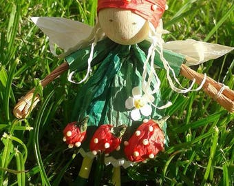 Strawberry fairy do it yourself paper craft kit for adults and kids