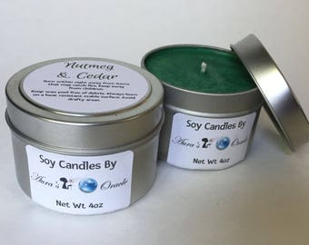 Nutmeg & Cedar 4oz Soy Wax Candle