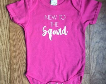 New to the Squad, Onesie, Baby Girl