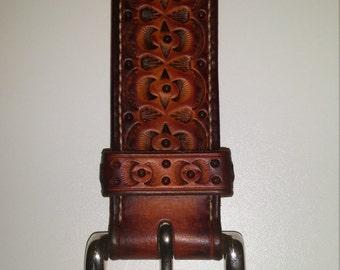 Exclusive leather belt handmade