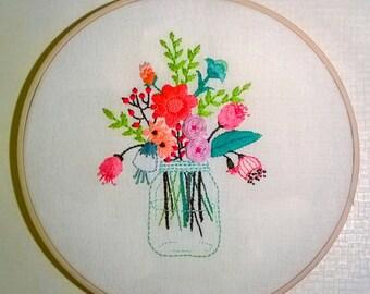 flowers jar hoop