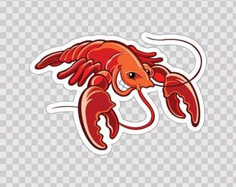 Decal Sticker Lobster food restaurant decoration  Weatherproof 06298