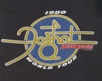 Vintage FOGHAT 1980 Tour T SHIRT original concert tee