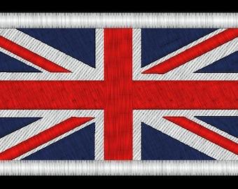 Union Jack British Flag Embroidery Design