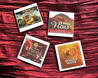 Coasters ceramic coasters, coasters, wine, Bernkasteler Pinot Noir, Burgundy, White Wine, bar accessories, Wine coasters