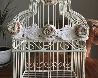 Wedding Bird Cage Card Holder, Shabby Chic Bird Cage Wedding Card Box, Rustic Wedding Card Holder