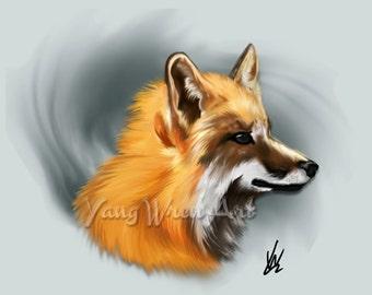 Fox 16 X 20 Giclee Print