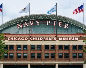 Navy Pier, in Chicago, Illinois. Photo Print, Metal, Canvas, Framed.