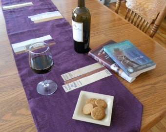 GEEK THE LIBRARY:  Book Table Runner, Perfect for Book Lover's Wedding, Literary Party, Librarian's Retirement Decor,  Purple Christmas Gift