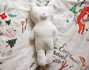 Bear plush, Bear toy, handmade bear toy, cuddle bear-stuffed animal, Baby gift, baby shower gift, baby toy