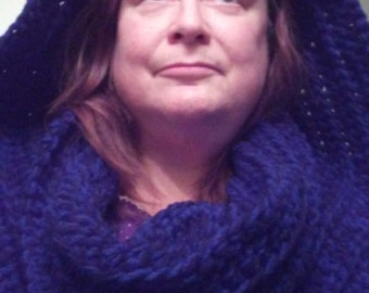 Hooded Cowl - Ribbed Design
