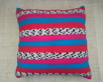Ethnic striped pillow cover