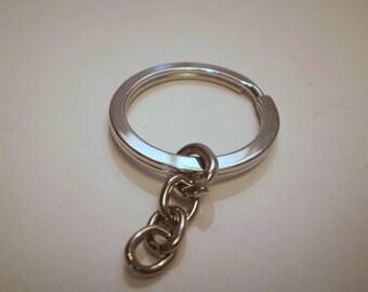 door keys and 33 mm silver rings
