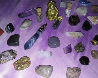HARMONY happy home Buddha and Crystal set Meditation, Metaphysical gift