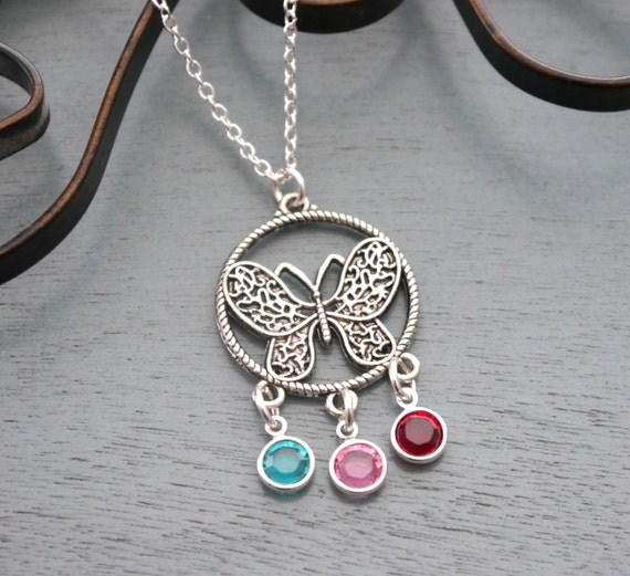 stone birthstone cross silver sterling necklace with custom heart and pendant