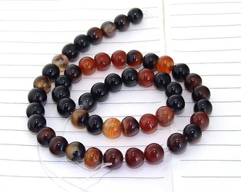 Round  Agate Gemstone Beads---- 8mm ----about 50Pieces---14.5 inch One Strand