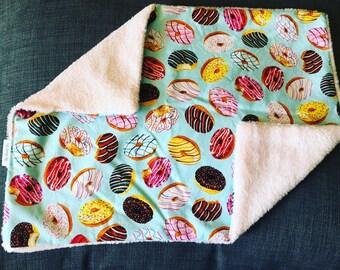 DONUT PRINT Lovey Baby Lap Blanket