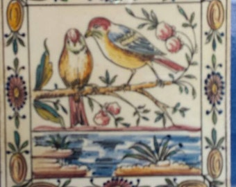 Birds Tile 1970 Portugal