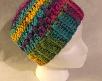Cheerful Colorful Chunky Winter Hat