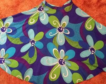 1970's Floral Hawaiian Circle Skirt