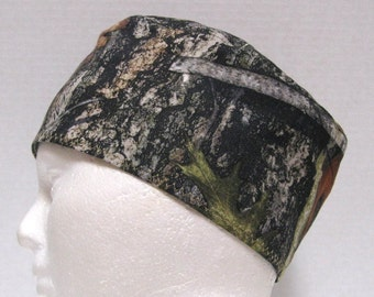 Mens Scrub Cap, Surgical Cap or Skull Cap, Mossy Oak Forest Camouflage