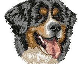 Bernese Mountain Dog Embroidered Patches and Hats
