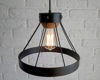 Black metal chandeliers Accent lamp Edison lamp Industrial lighting Lighting Modern lamp Wooden lamp Metal Loft design Restaurant decor