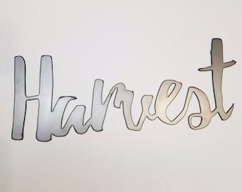 Harvest Metal Word Art