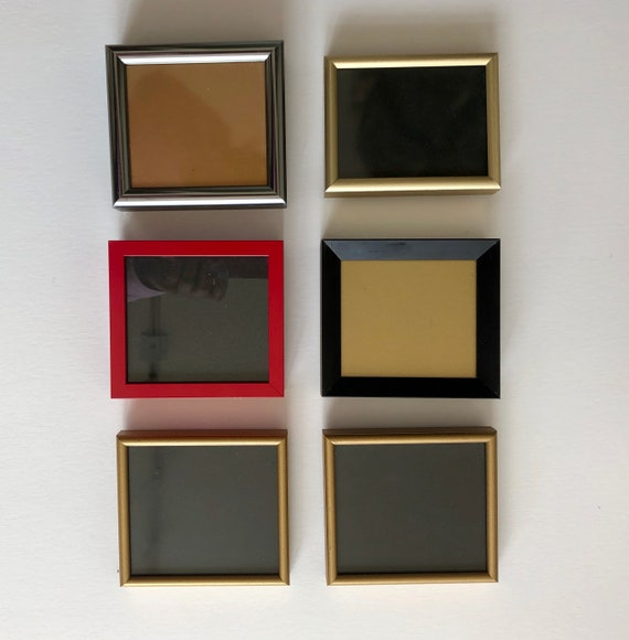 Package of 6 Mini Metal Frames - Assorted Colours
