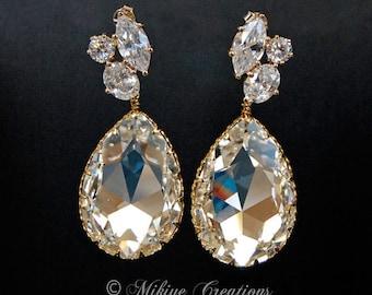 Wedding Earrings, Bridal Chandelier Swarovski Drop Earrings,Wedding Accessories