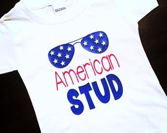American STUD, Fourth of July, 4th of July Baby Boy