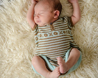 make your own Kiss Me Romper (DIGITAL KNITTING PATTERN) infant baby toddler