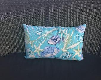 Key Isle Lagoon Lumbar Pillow Water Resistant