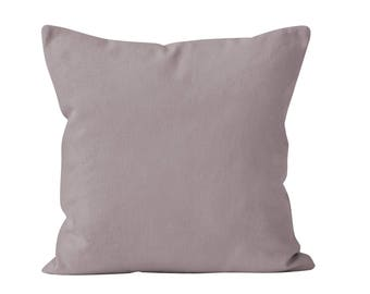 Dusk Throw Pillow Cover, Solid Neutral Taupe Mauve Accent Pillow Cover Neutral Decor Neutral Brown Purple Throw Cushion Cover 18x18 22x22 _M