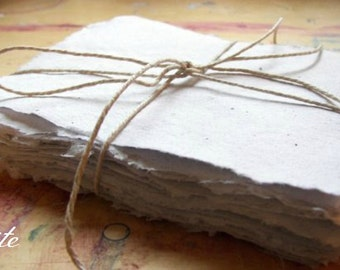10 sheets 4x5 inch handmade paper, recycled paper, eco friendly paper, homemade paper, recycled sheet paper, decorative paper, art paper