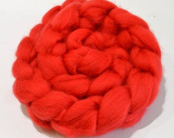 Shetland Wool Combed Top - Red - Conservation Breed - 100 grams