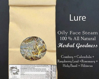 Lure: Herbal Facial Steam-Blemish Control-Oil Reduction-Healing Steam-Spa Treatments-Oily Skin-Acne-Relaxation-Organic Skincare-Steam Face