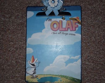 OLAF from Frozen with Anna and Elsa Disney Altered Clipboard
