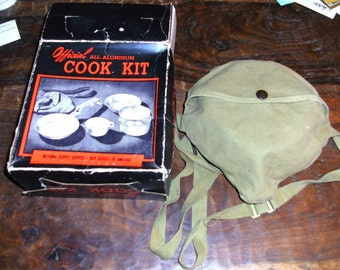 1950's Official Boy Scout Camping Cook Kit