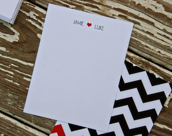 Thank You Note Cards - she loves he