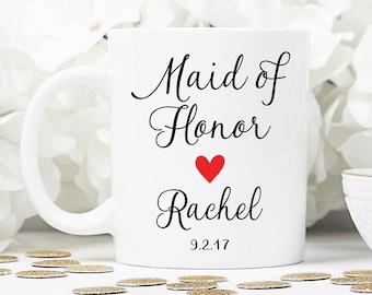 Maid of honor mug, maid of honor gift, wedding gift, wedding mug, MOH mug, bridesmaid mug