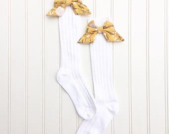 Toddler Knee Highs, Little Girls Knee High Socks, Bow Knee Highs, Girls Knee Socks, Baby Knee Highs, Girls Bow Socks, Toddler Bow Socks, Bow