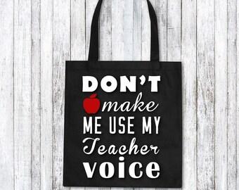 Custom tote bag - teachers gift idea - funny teachers present - best teacher ever - teachers tote bag - gift for teacher
