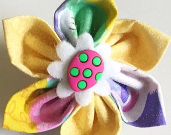 Yellow Easter Egg Flower for Girl Dog or Cat Collar