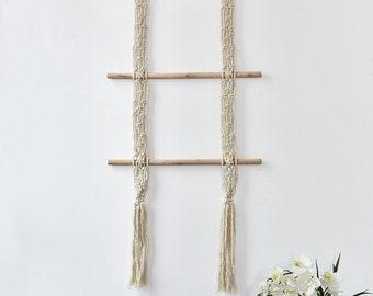 Scarf Hanger | Scarf Organizer | Scarf holder | Accessory Hanger | Macrame Decor | Scarf Rack |