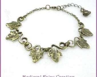 "Bracelet ""Ivy"" symbolizing the attachment and nature"