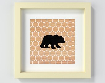 Instant Download Bear Print, Printable Bear Nursery Art, Animal Nursery Print, Baby Decor, Baby Shower Gift, New Baby Gift, Art for Nursery