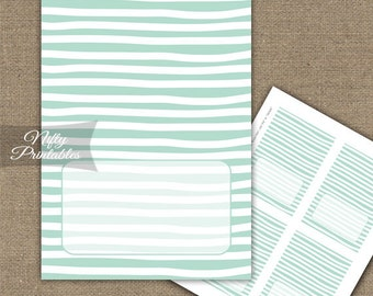Mint Food Tents - Mint Place Cards - Printable Mint Tent Cards - Mint White Stripe Buffet Decorations - Baby Bridal Shower Decor Tents - DSM