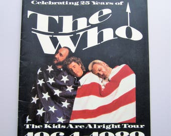 The Who - The Kids Are Alright Tour Programme 1964-1989 - Celebrating 25 Years of The Who